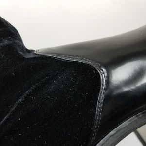 Zara Shoes - Zara contrasting velvet and patent ankle boots